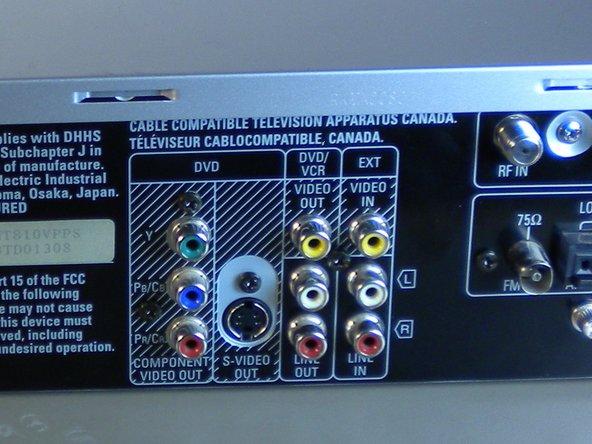 Checking Audio/Video Cables on Panasonic SA-HT810V