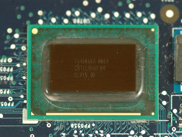 The processor is an Intel Pentium M 1.0 GHz with 2MB L2 cache, soldered to the logic board.