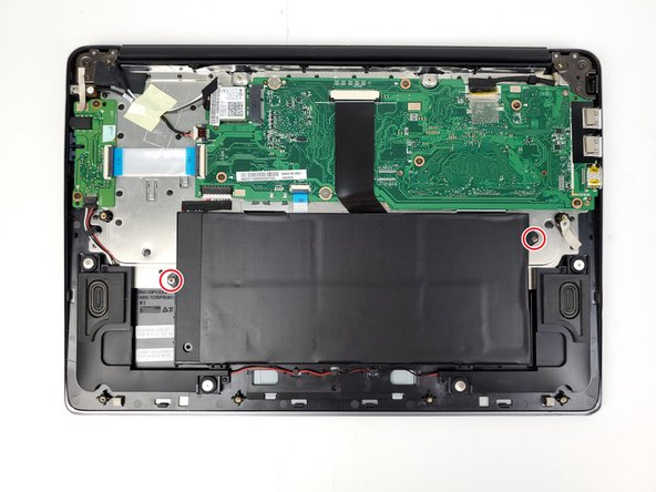 Use a Phillips #0 screwdriver to unscrew the two 5.5mm screws from the battery housing.