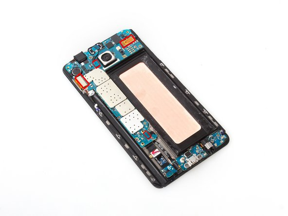 Release LCD connector, digitizer connector, earpiece assembly connector, home button connector on the motherboard.