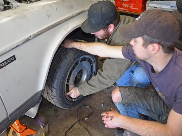 Install your new wheels over the lugs of the wheel adapters and tighten the lug nuts to 85 ft-lbs.