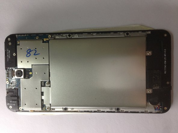 After put back all the screws in the Metal bracket, time to test the new LCD Screen. Connecting the charger, to see the charging port is functional, then do a power on  to verified the LCD Screen working or not. If both working as they should, job almost done. Now put back the Back Plastic Cover and we call it done.