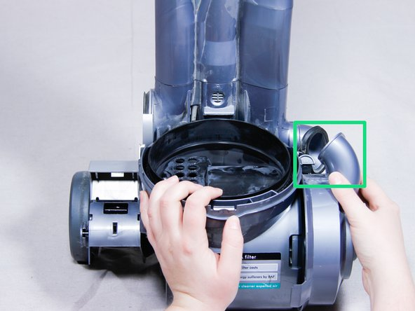 Place the vacuum right-side up and leave it standing up.