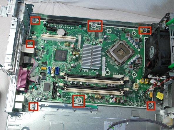 HP rp5700 Repair Motherboard Replacement