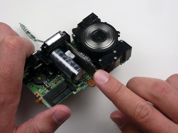 Remove the logic board by pulling straight away from assembly.