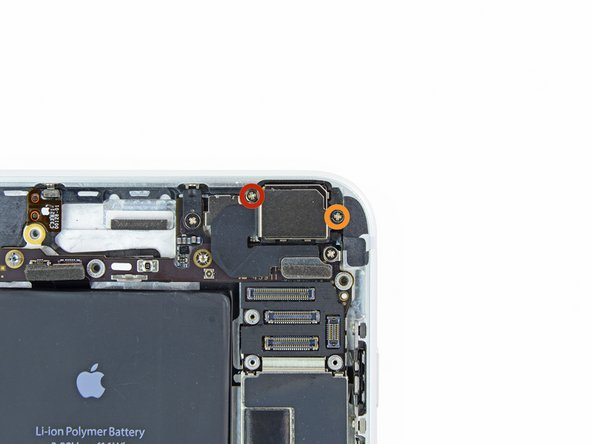 Remove the following screws securing the rear-facing camera bracket to the rear case: