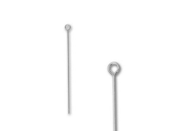 Silver Filled 1.25 inch Eye Pin - 24 Gauge Hoofdafbeelding