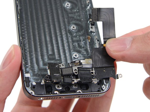 Remove the lightning cable assembly from the rear case.