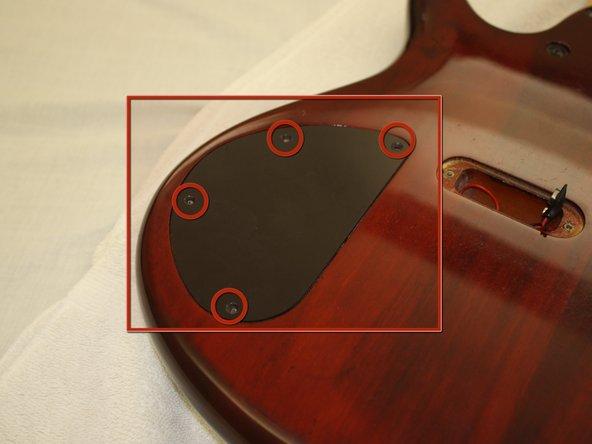 Locate back plate cap and screws.