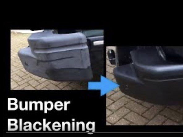 How to Blacken plastic car fenders / bumpers