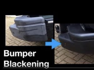 How to Blacken plastic car fenders / bumpers
