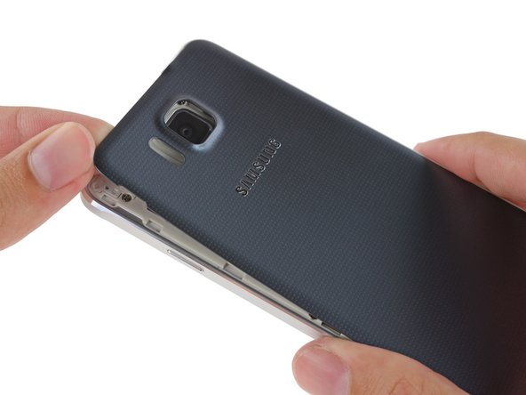 The newest in a long line of Samsung Galaxy smartphones, the Galaxy Alpha still proudly features an easily removed rear cover and tool-less battery replacement.