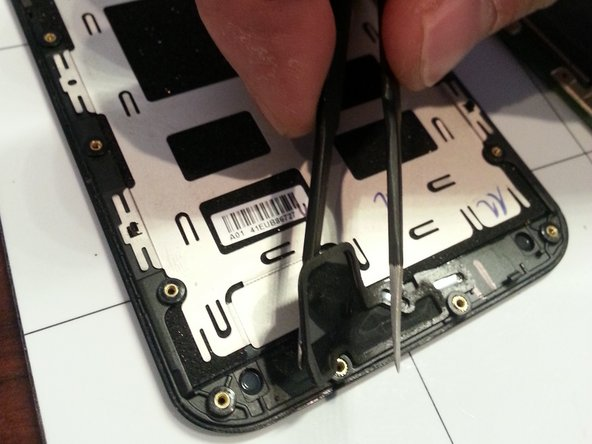 The newly purchased screen will likely not have speaker grills so you must remove them from the broken screen and put them onto the new screen