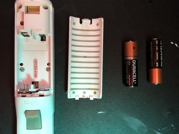 Remove both batteries if their are any inside the remote .