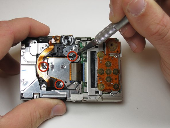 In order to remove the photo sensor, you will have to cut through glue and remove screws.