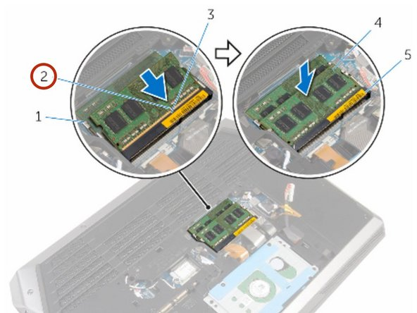Align the notch on the NEW memory module with the tab on the memory- module slot.