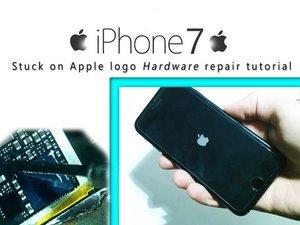 Come riparare un iPhone 7 bloccato sul logo Apple.