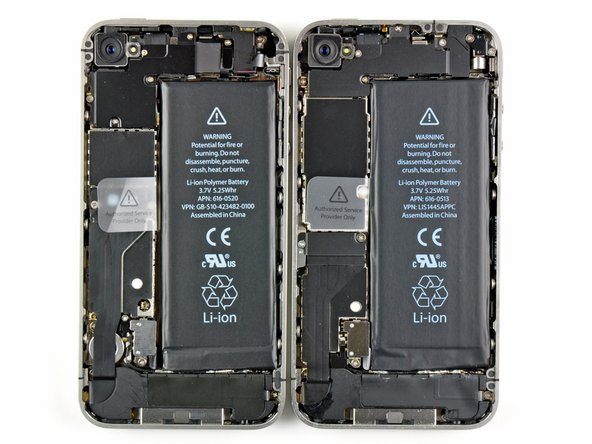 At a quick glance, things don't look too different in here. But the fact remains, they are not identical. If you can't tell, the Verizon iPhone is on the left.