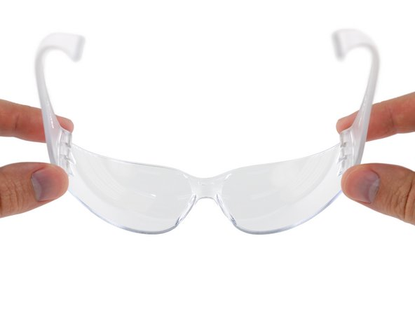 Wear eye protection while using the vise, drilling the hole, and removing sharp edges.