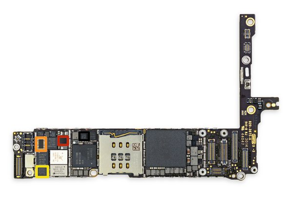 More ICs on the front of the logic board: