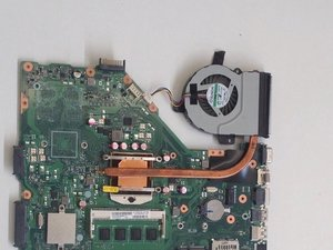 Asus X55C Fan/Heat Sink Cleaning and Thermal Past Application