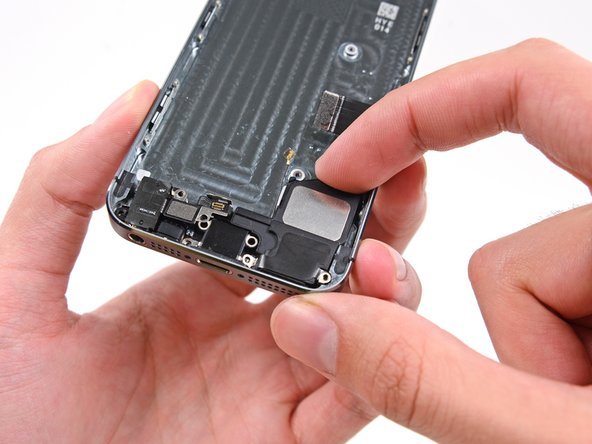 Remove the speaker by lifting it up and out of the rear case.