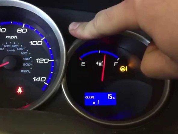 Reemplazo del indicador de vida útil del aceite Reset de Honda Fit