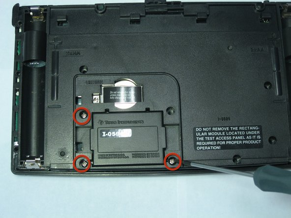 Using the same Phillips screwdriver, unscrew the remaining three 11.8mm screws.