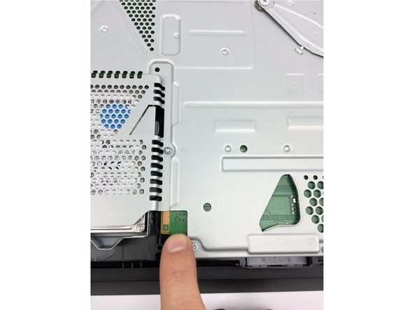 After third washer has been installed and the screws have been tightened touch the power pad on the motherboard.