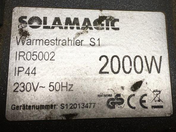 SolaMagic S1 heater Lamp Replacement
