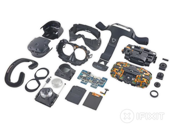 The HTC Vive Repairability Score: 8 out of 10 (10 is best):