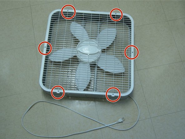 Make sure the fan is unplugged.