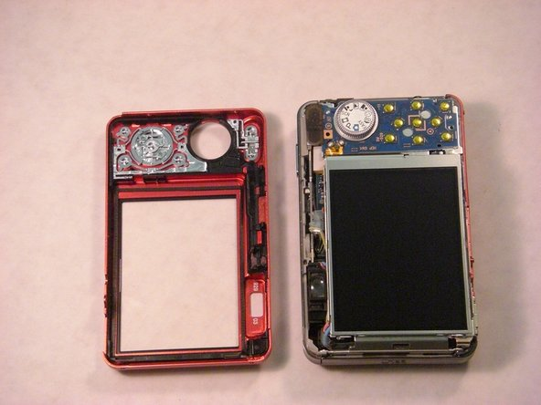 The two halves of the camera casing should now be separate.