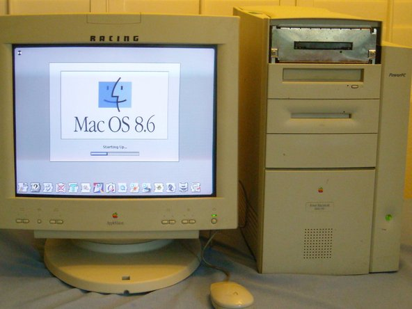 There she is! i'm missing the bezel around the floppy drive :(
