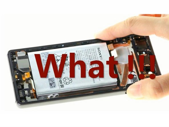 How to remove Sony Xperia X Battery if adhesive breaks?