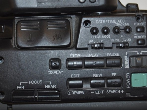 RCA Small Wonders Camcorder CC176 Top Control Panel Replacement