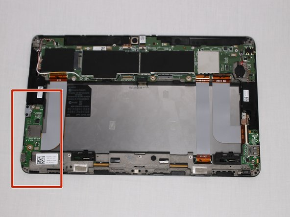 Identify the location of the HDMI Port, which will be in the left bottom part of the tablet.