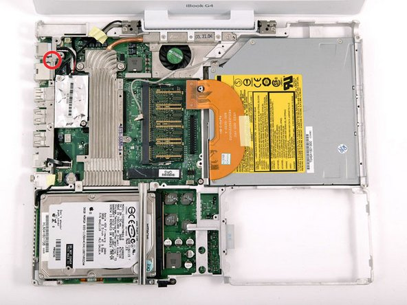 "iBook G4 12"" 800 MHz-1.2 GHz RJ-11 Board Replacement"