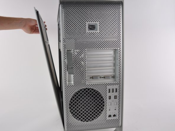 Remove the side panel of the Mac Pro.