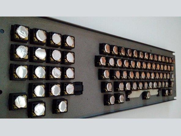 Creating Key Switch Foam Pads for Apple Lisa Keyboard