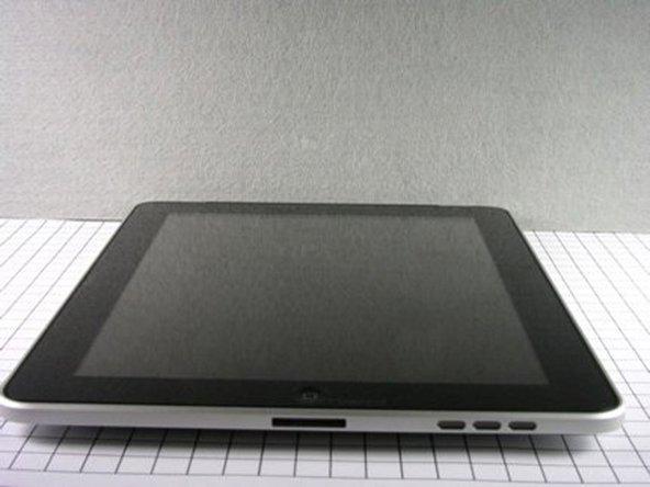 Bottom side of iPad.