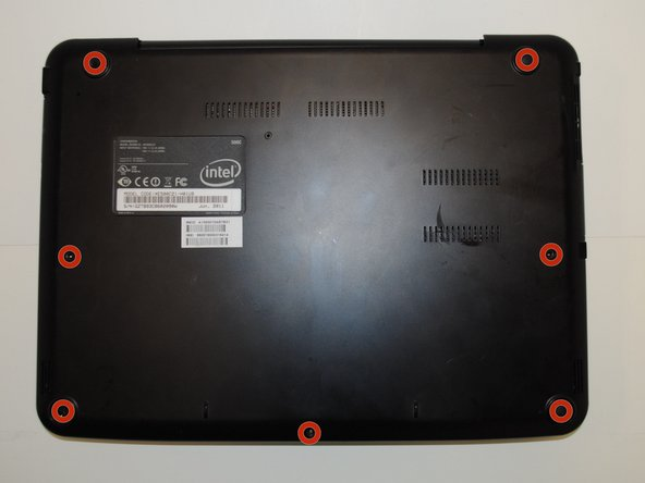 Remove the back panel of the device by taking out the seven screws on the back panel of the device.
