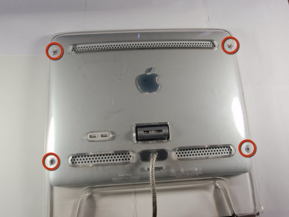Notice that the main components of the monitor are only accessible from the back of the device.