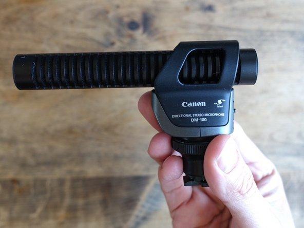 Canon DM-100 microphone rattle noise fix