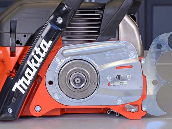 If the chainsaw has a chain and guide bar installed, follow the manufacturer's instructions and remove them before proceeding.