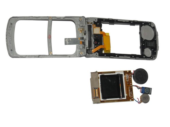 Lift the screen components out of the phone.