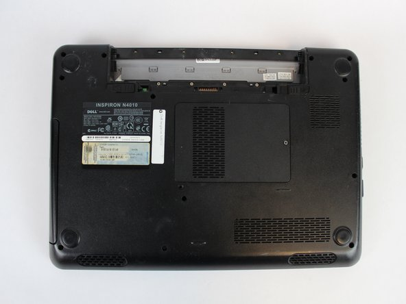 The battery is now fully removed and the laptop will not power on without it.