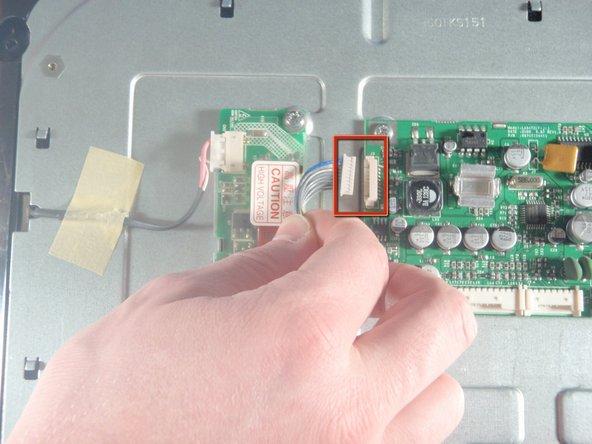 Remove the final connector of the LCD main board by pulling with hand.