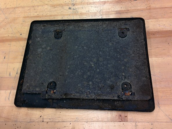 Just pull it right off and set it aside. The bottom mat may stick to the frame. Just pull on it until it comes off.
