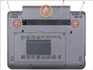 Dell Vostro A90 Extracción de la batería